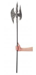 Double- hache médiévale Halloween 120 cm