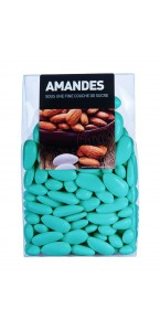 Dragées Amande Longuette Turquoise  450 gr