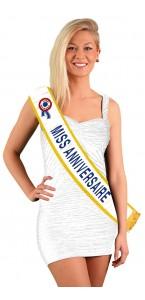 Echarpe Miss Anniversaire bleue