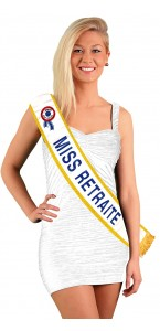 Echarpe Miss Retraite Bleue