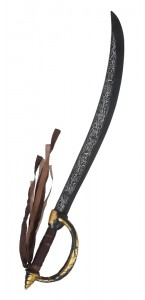 Epée de pirate avec rubans 68 cm