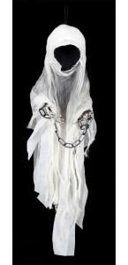 Fantôme avec chaîne 100 x 30 cm Halloween
