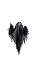 Fantôme noir lumineux et sonore Halloween 47 x 47 x 6 cm