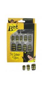 Faux-ongles abeille noir/jaune