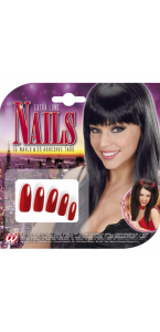 Faux ongles extra longs rouges