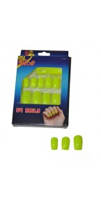 Faux-ongles jaune fluo