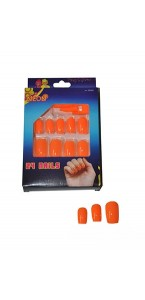 Faux-ongles orange fluo