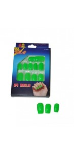 Faux-ongles vert fluo