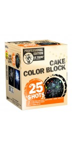 Feu d'artifice Cake color block 25 coups