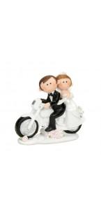 Figurine mariés moto