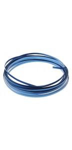 Fil aluminium plat bleu 4 mm x 5 m