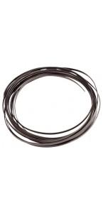 Fil aluminium plat noir 4 mm x 5 m