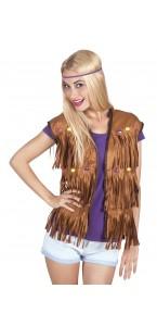Gilet hippie marron