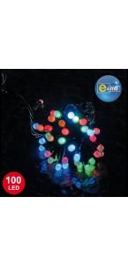Guirlande 100 leds 8 mm multicolores 8 fonctions