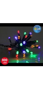 Guirlande 800 leds 5 mm multicolores 8 fonctions 40 m