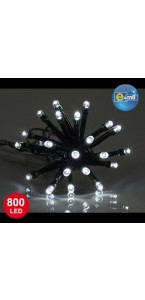 Guirlande 800 leds 5 mm transparentes 8 fonctions 40 m