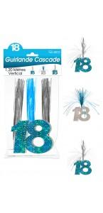 Guirlande Cascade 18 ans Hologramme bleue