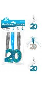 Guirlande Cascade 20 ans Hologramme bleue