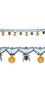 Guirlande éventail Noir/orange décor Halloween 3,65 m