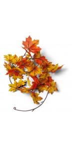 Guirlande feuilles d'automne jaune/orange180 cm