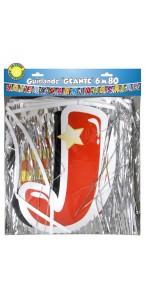 Guirlande géante Joyeux anniversaire 6,80 m