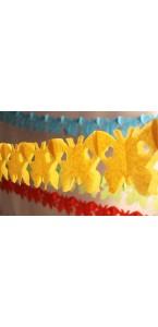 Guirlande Papillon jaune 4 m