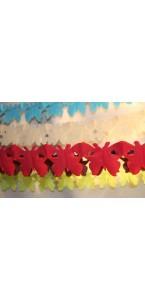 Guirlande Papillon rouge 4 m