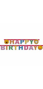 Guirlande Smiley Comic Happy Birthday 1,80 m x 15 cm