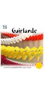 Guirlande Zinnia jaune 4 m