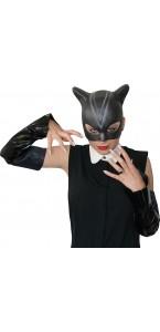 Kit Catwoman avec masque, gants griffes adulte