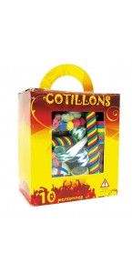Kit Cotillon 10 personnes multicolore
