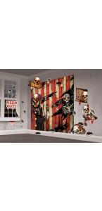 Kit de décoration Clown effrayant Halloween scene setter 33 pièces