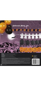 Kit de décoration Halloween avec guirlandes et ballons