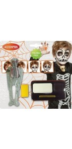 Kit de maquillage squelette  halloween