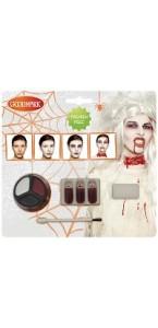 Kit maquillage de Zombie femme  halloween