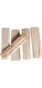 Lames de bois naturel 250 g 10 à 12 cm