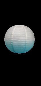 Lanterne bleu dégradé en papier 25 cm