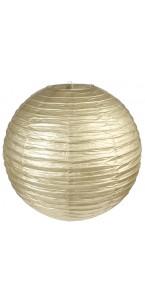 Lanterne chinoise en papier or 50 cm