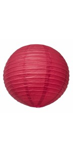 Lanterne rouge en papier D 50 cm