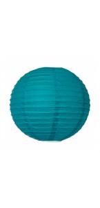 Lanterne turquoise en papier D 35 cm