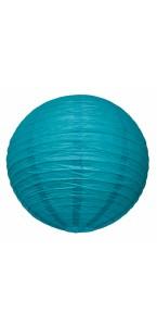 Lanterne turquoise en papier D 50 cm