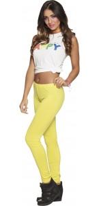 Leggings opaque jaune fluo  strech taille M