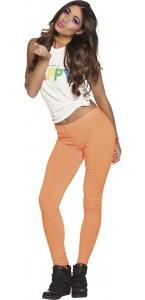 Leggings opaque orange fluo  strech taille M