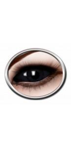 Lentilles œil noir Halloween 6 mois