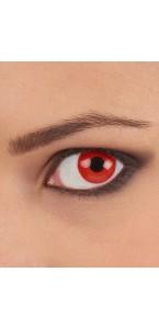 Lentilles Oeil complet rouge- 22mm- 6 mois