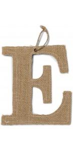 Lettre E en jute 15,5 cm