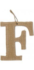 Lettre F en jute 15,5 cm