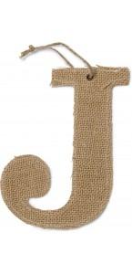 Lettre J en jute 15,5 cm