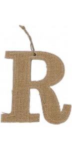 Lettre R en jute 15,5 cm