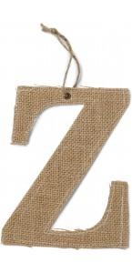 Lettre Z en jute 15,5 cm